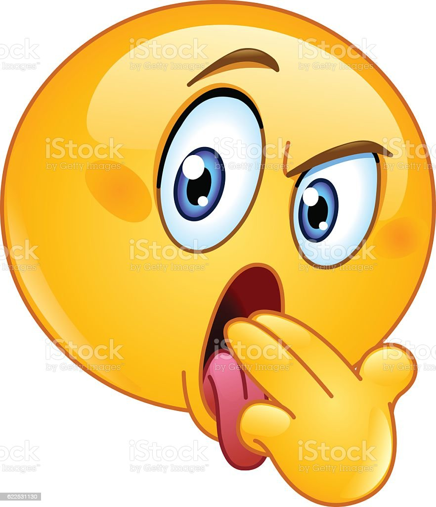 Vomit Gesture Emoticon stock vector art 622531130 iStock