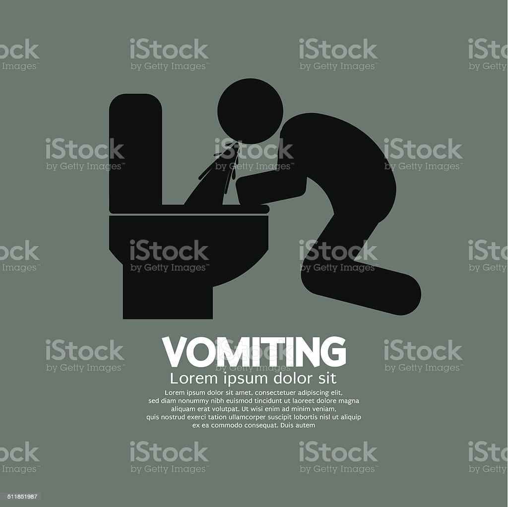 Vomiting Person Graphic Symbol Vector Illustration vector art illustration