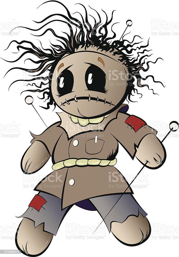 Voodoo Doll vector art illustration