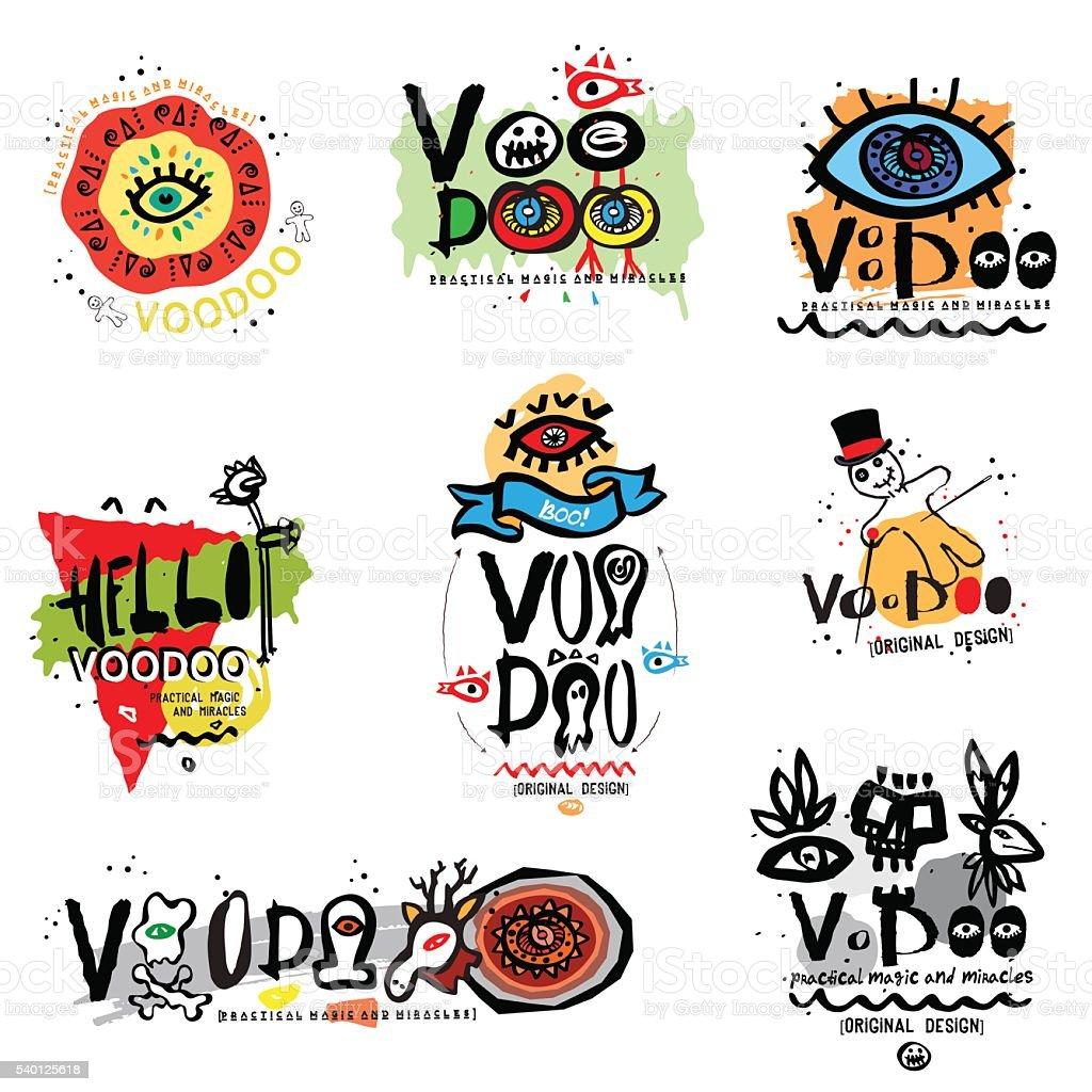 Voodoo illustration. vector art illustration