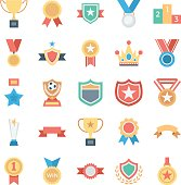 Vote and Rewards Colored Vector Icons 1