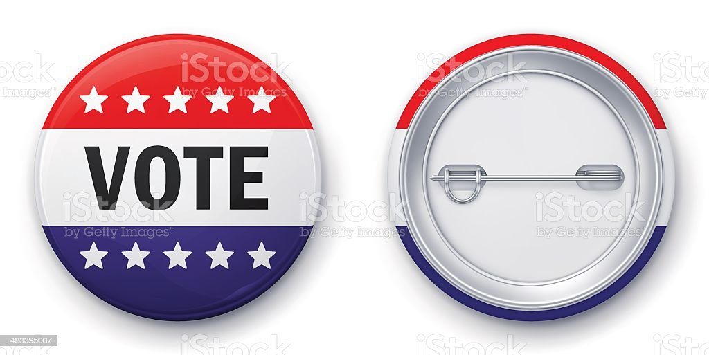Vote badge vector art illustration