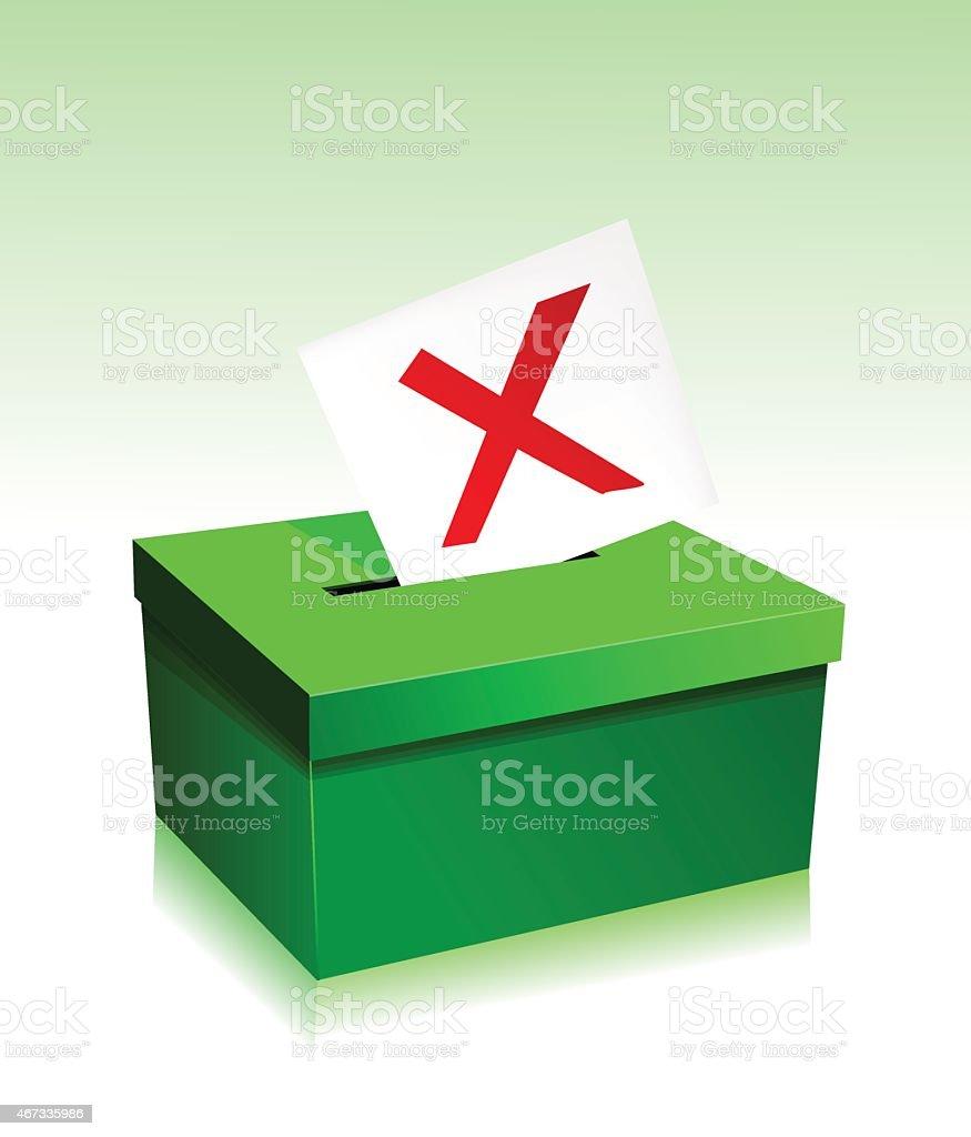 Vote boxe stock vecteur libres de droits libre de droits