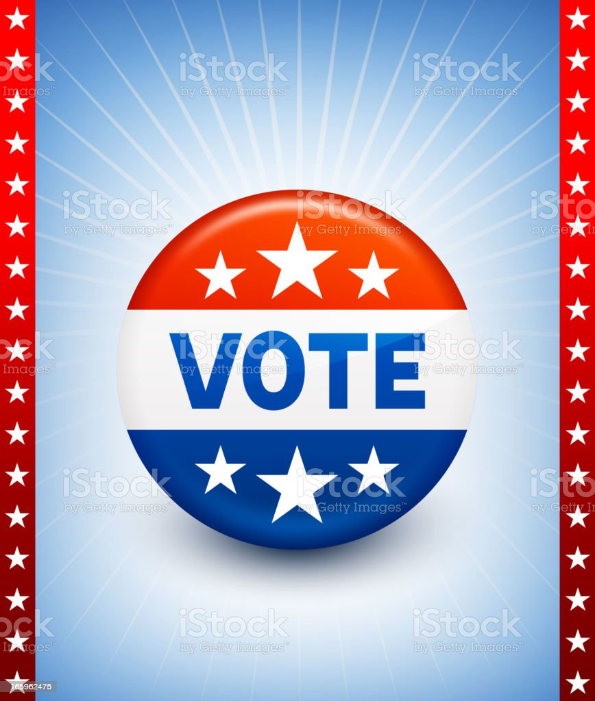 USA Vote Button Pin royalty-free stock vector art