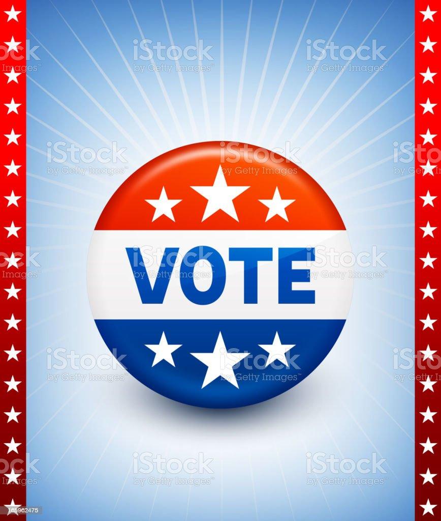 USA Vote Button Pin vector art illustration