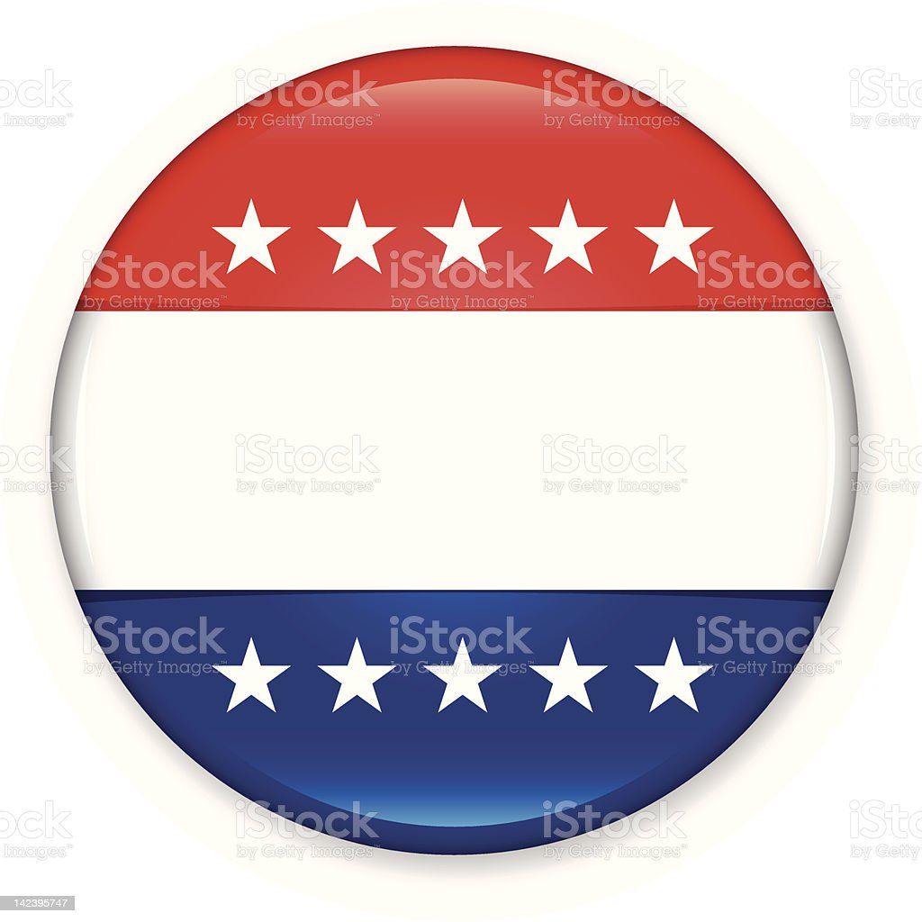 Vote Button vector art illustration
