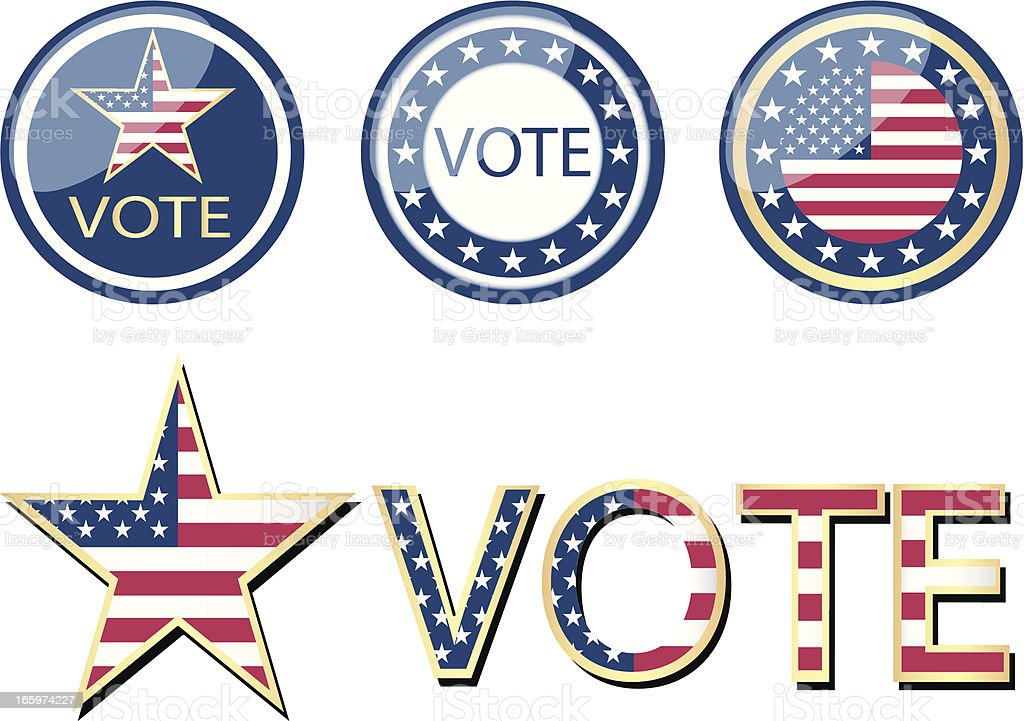 USA Vote Campaign royalty-free stock vector art