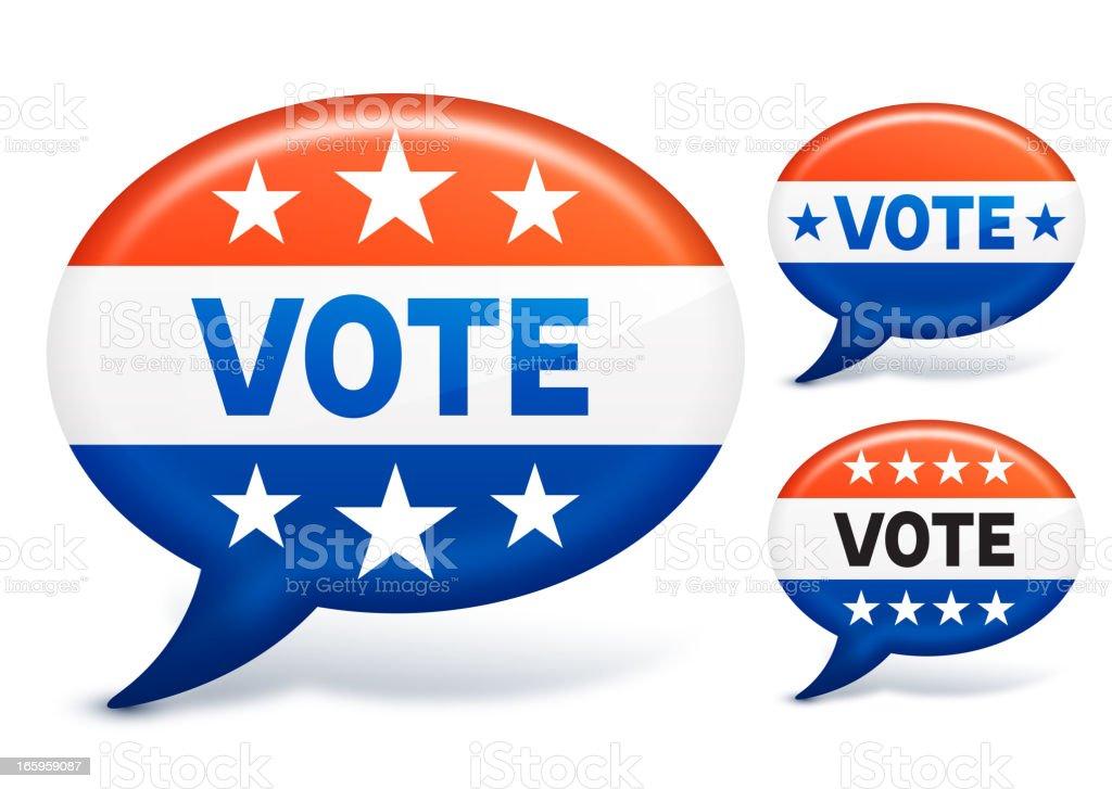 Vote dialogue balloon set royalty-free stock vector art