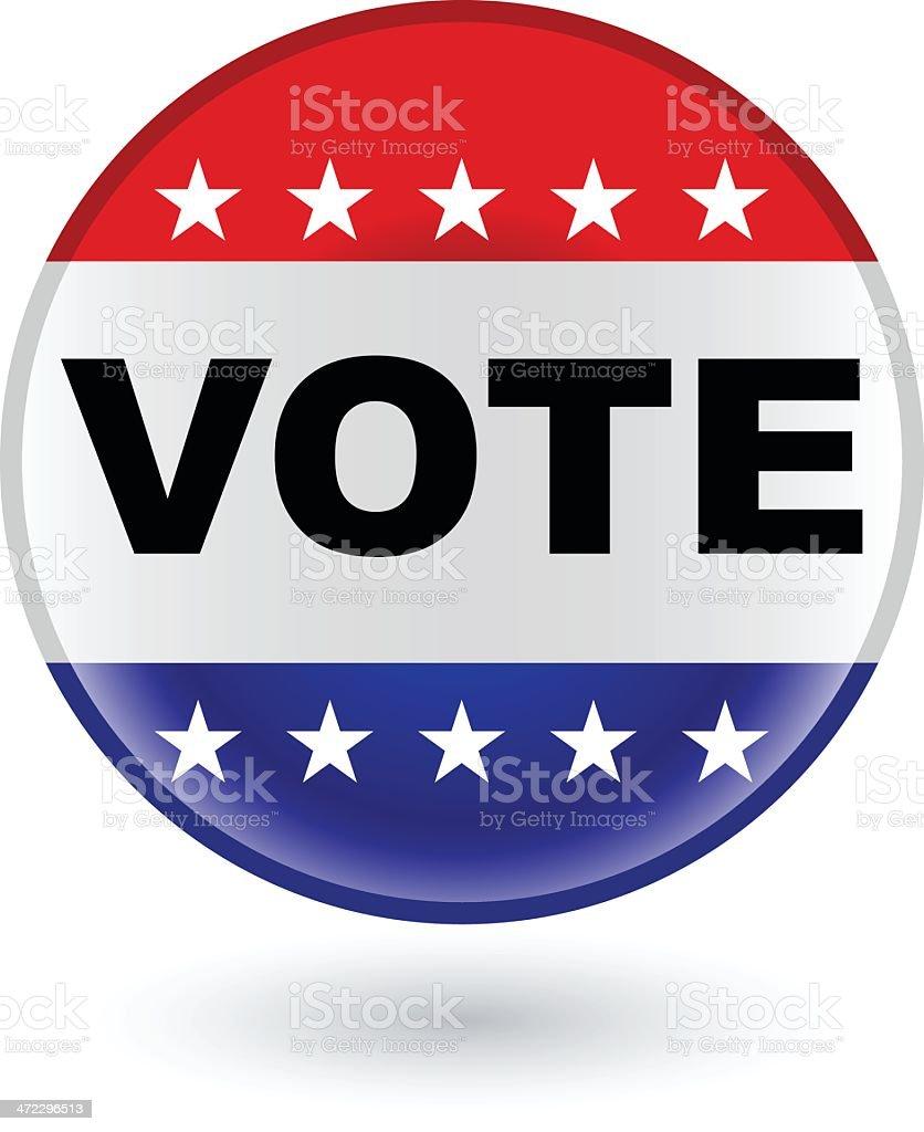 vote election badge or campaign Button vector art illustration
