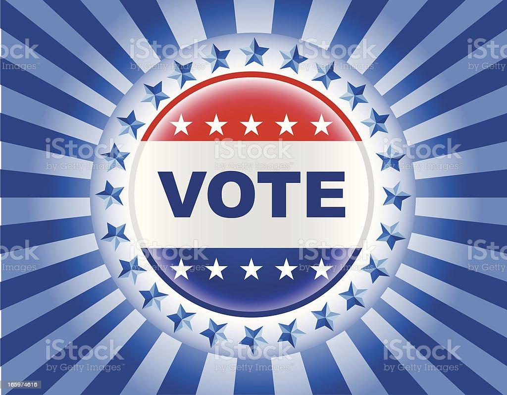 vote election badge vector art illustration