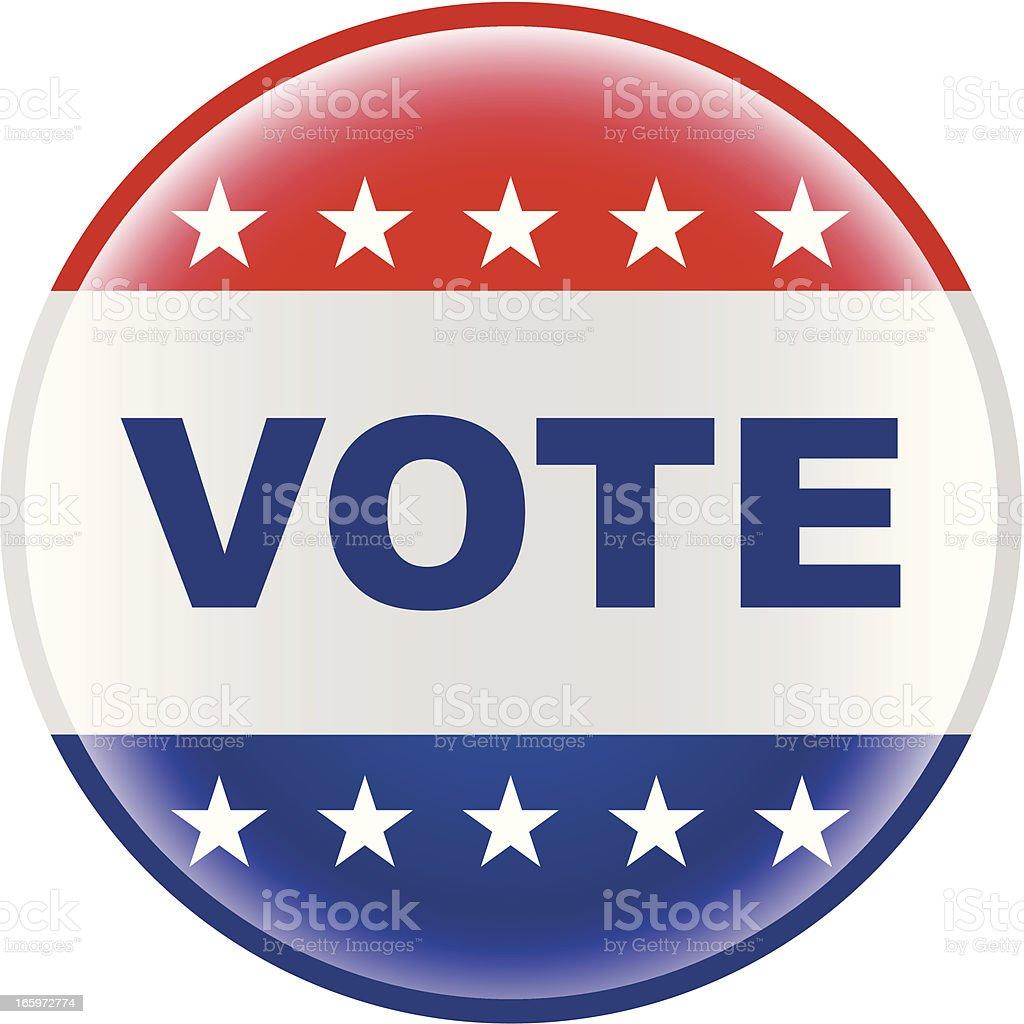 vote election pin bage vector art illustration