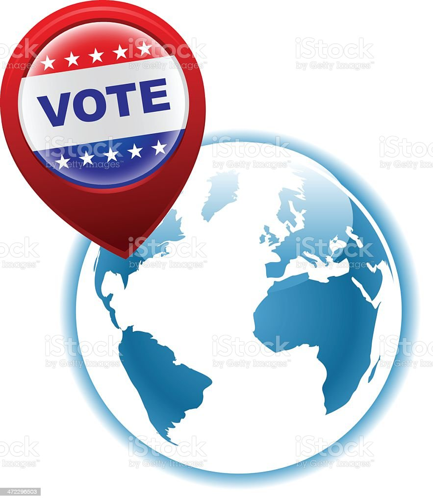 vote election pin or pointer royalty-free stock vector art