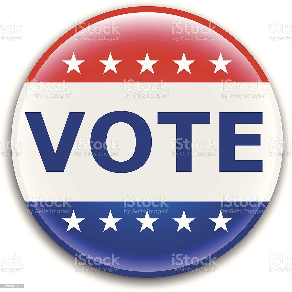 Vote Election Pin vector art illustration