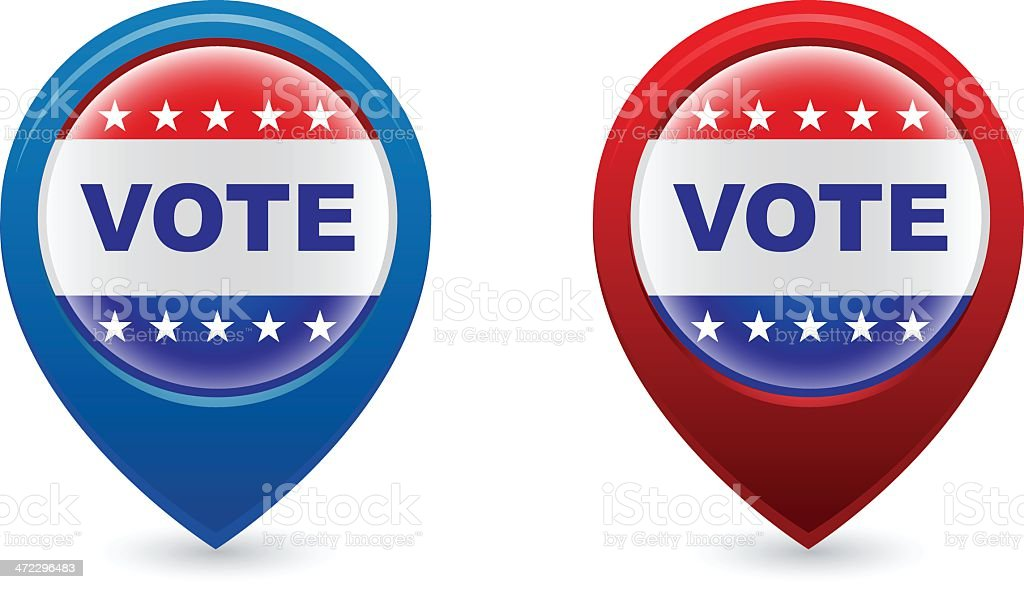 vote election pins or pointers royalty-free stock vector art