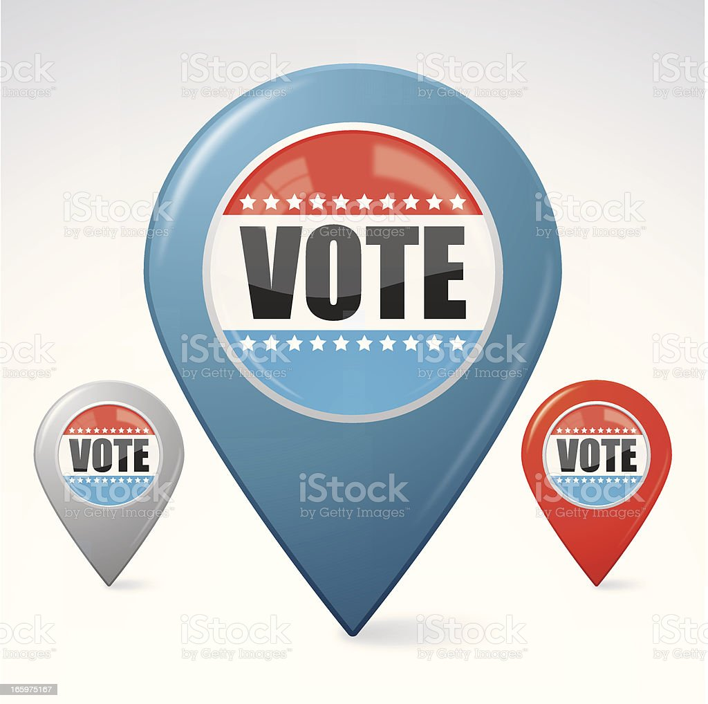 Vote election pointer royalty-free stock vector art