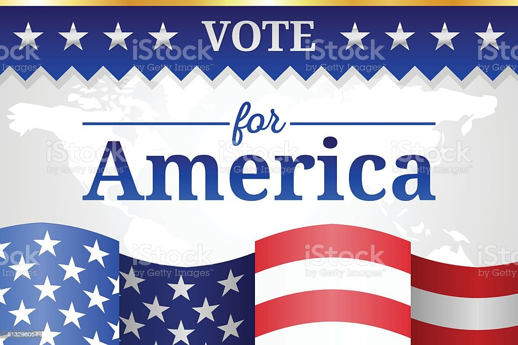 Vote for America Background vector art illustration