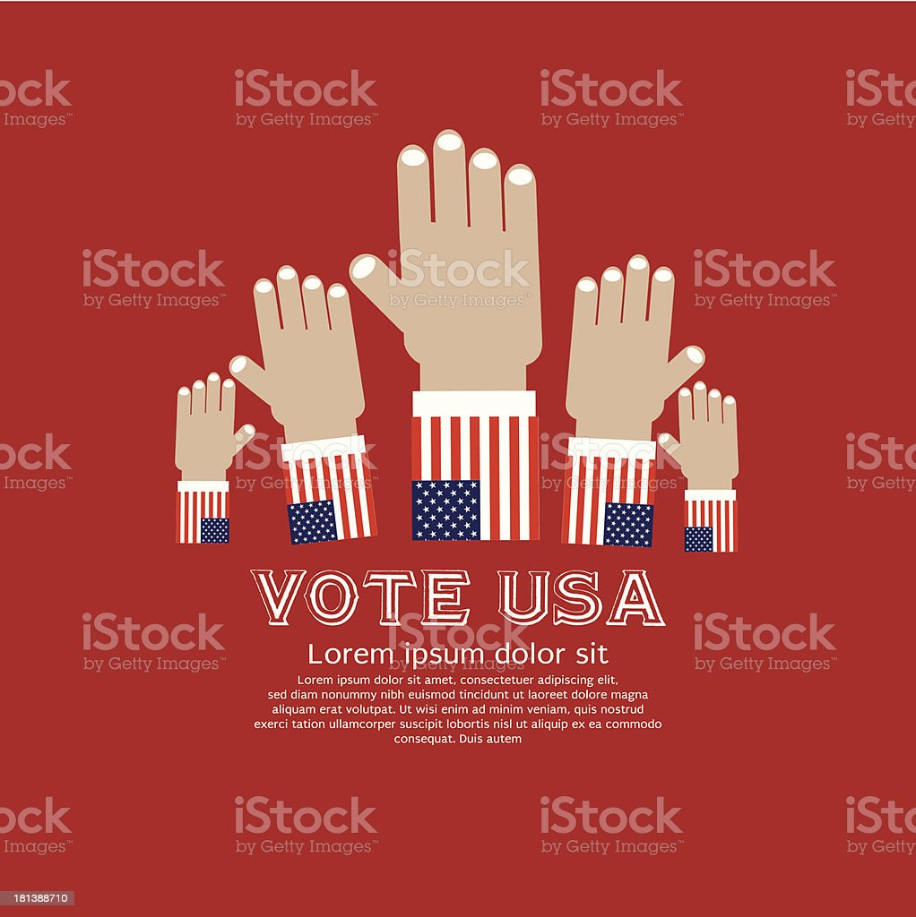 Vote for election. royalty-free stock vector art