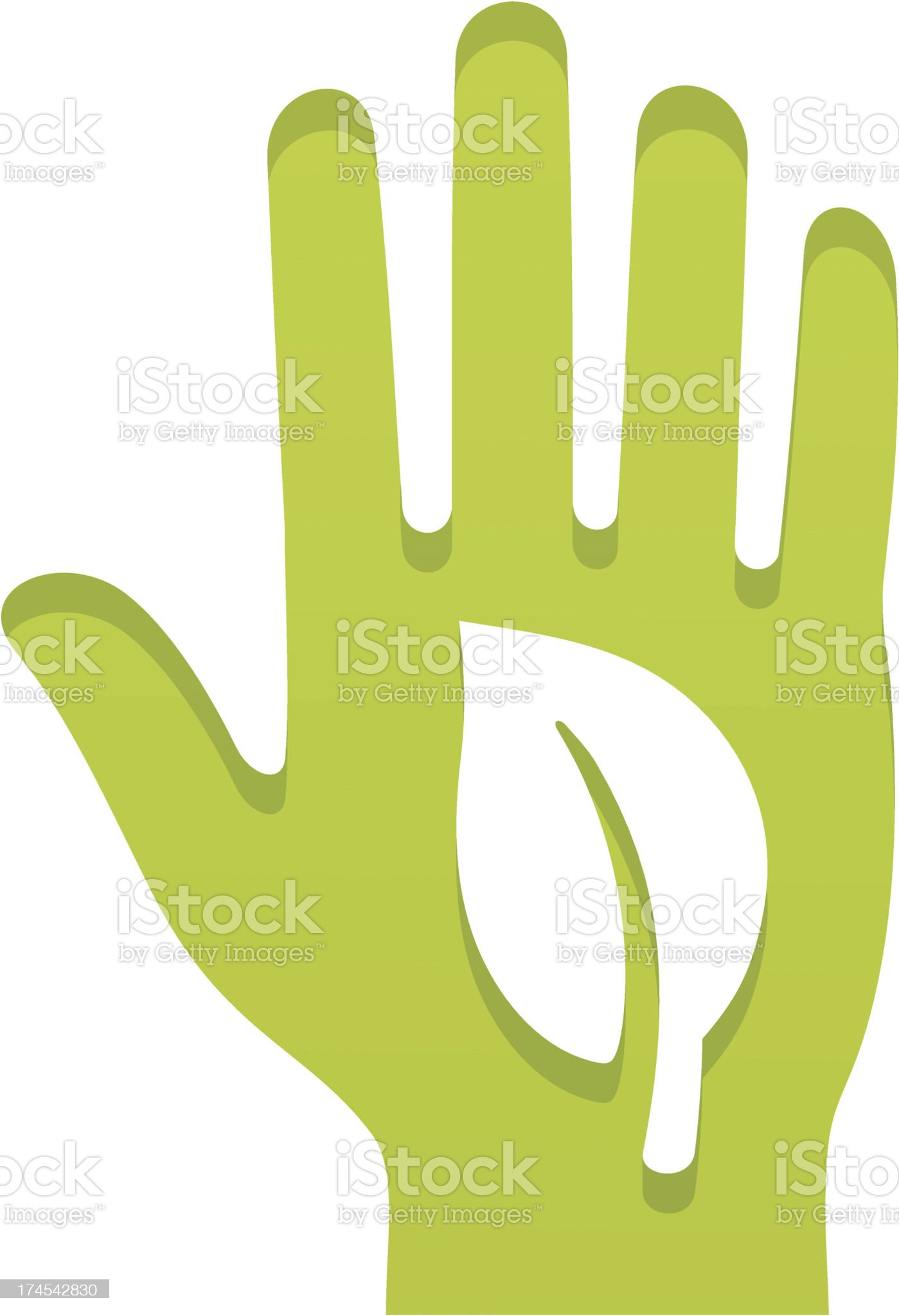 vote for green royalty-free stock vector art