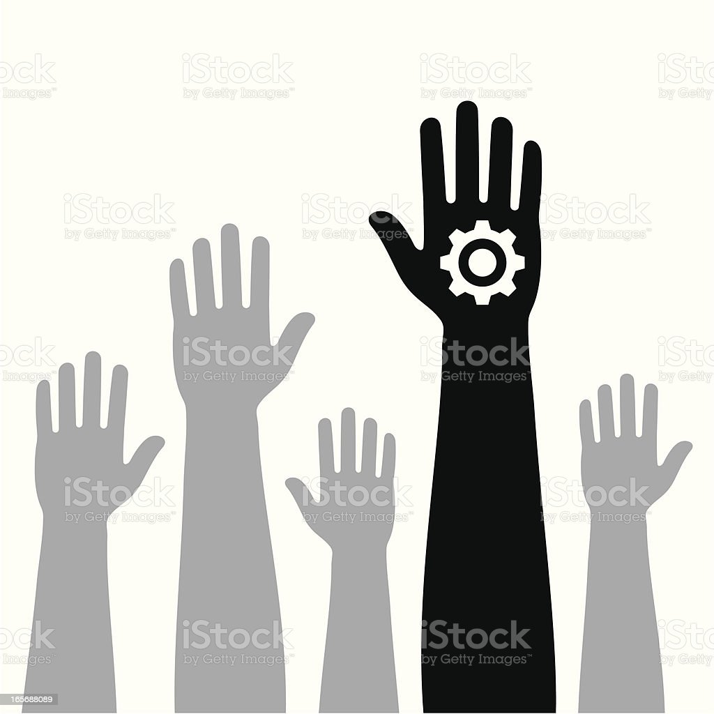 vote for industry vector art illustration