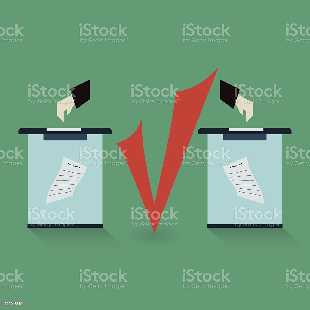 Vote for the choice vector art illustration