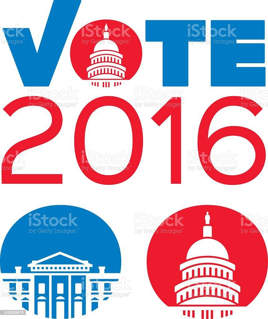 Vote Government Buildings Concept vector art illustration