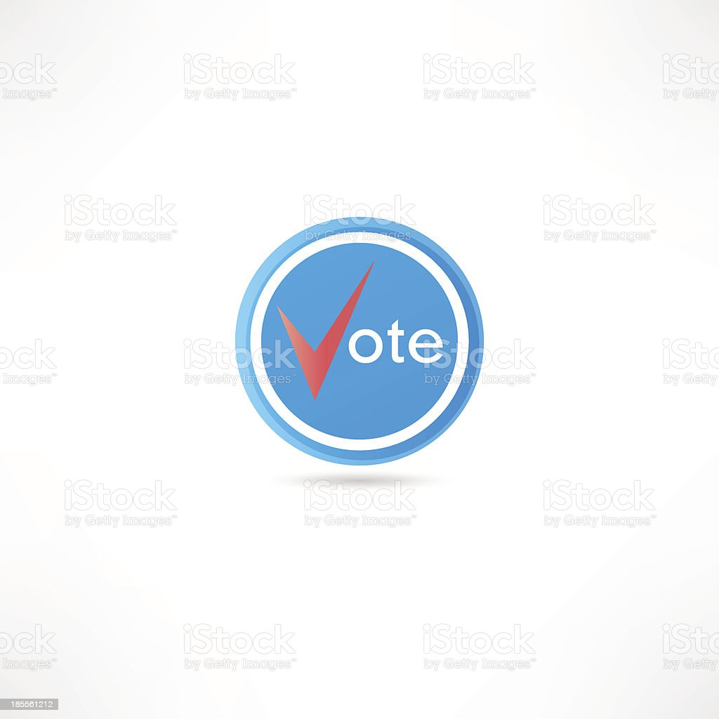 Vote icon royalty-free stock vector art