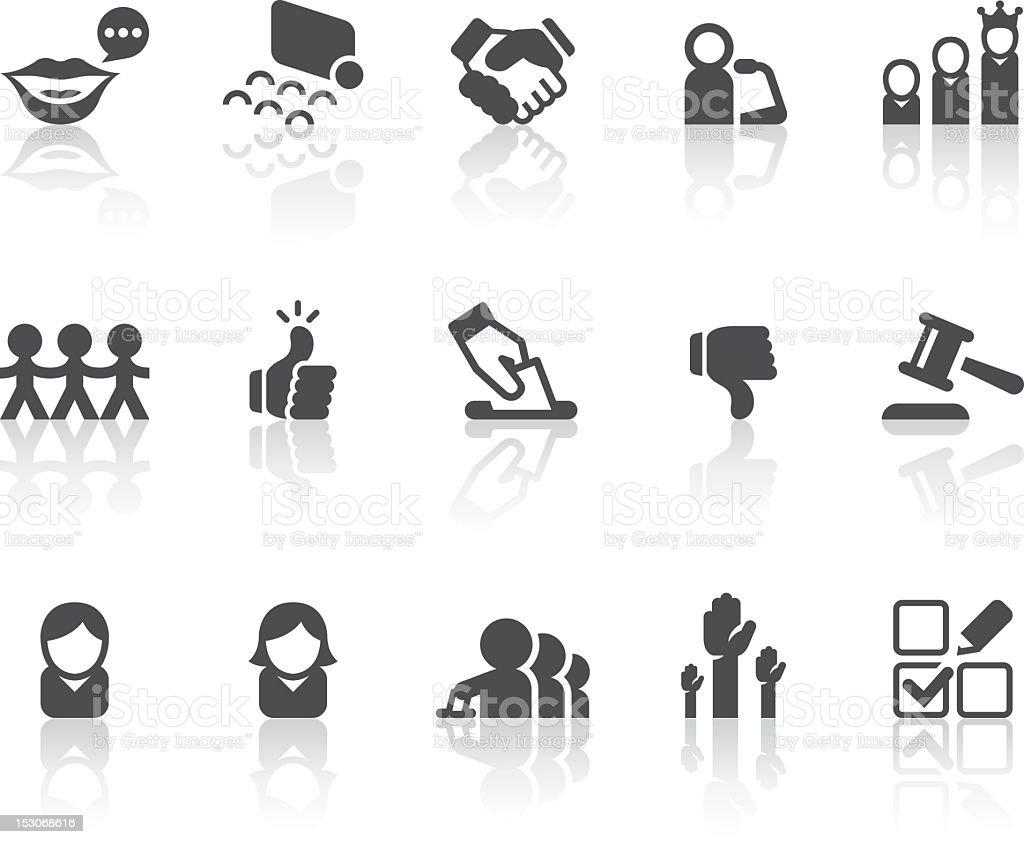 Vote Icons | Simple Black Series royalty-free stock vector art