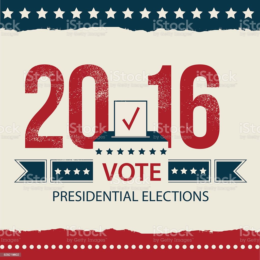 Vote Presidential Election card, Presidential Election Poster Design. vector art illustration