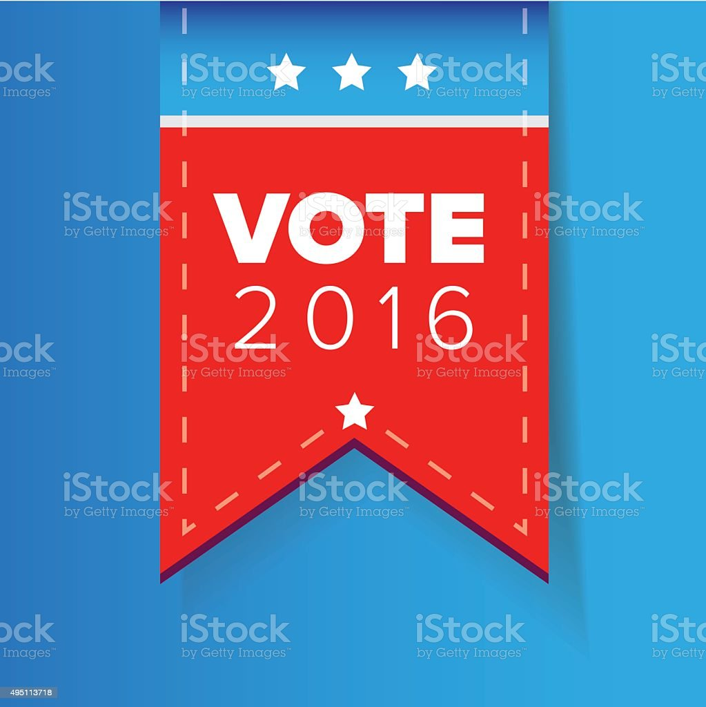 US Vote ribbon vector vector art illustration