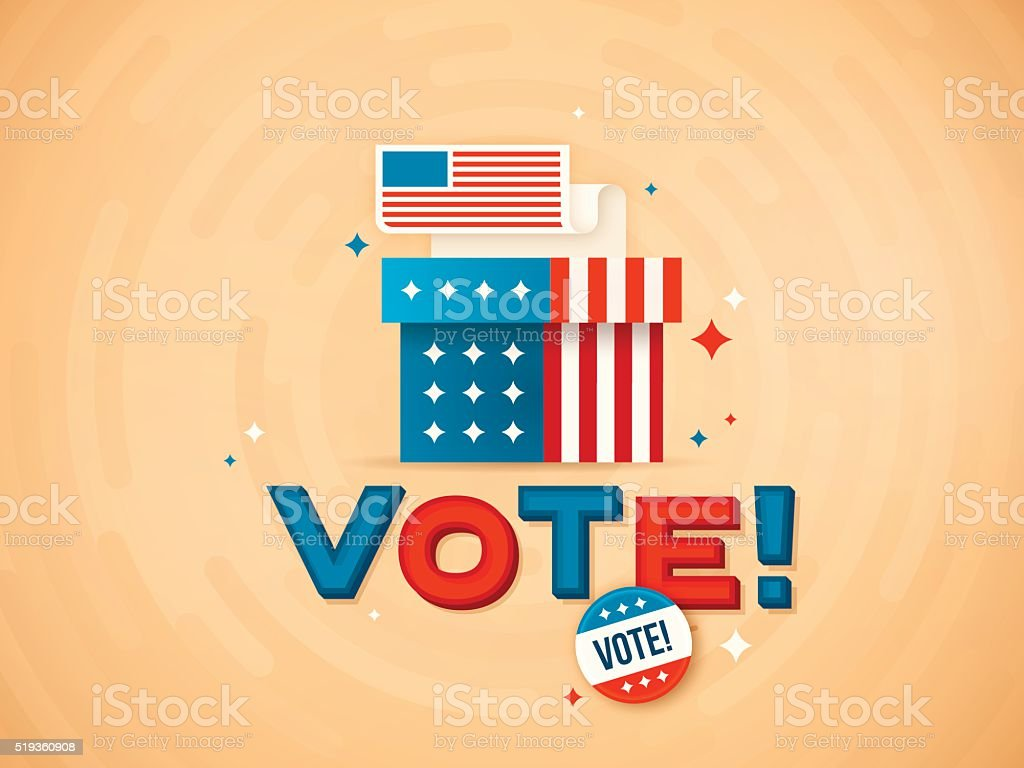 Vote! vector art illustration