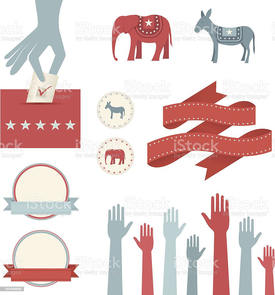 Voting and Election Elements royalty-free stock vector art