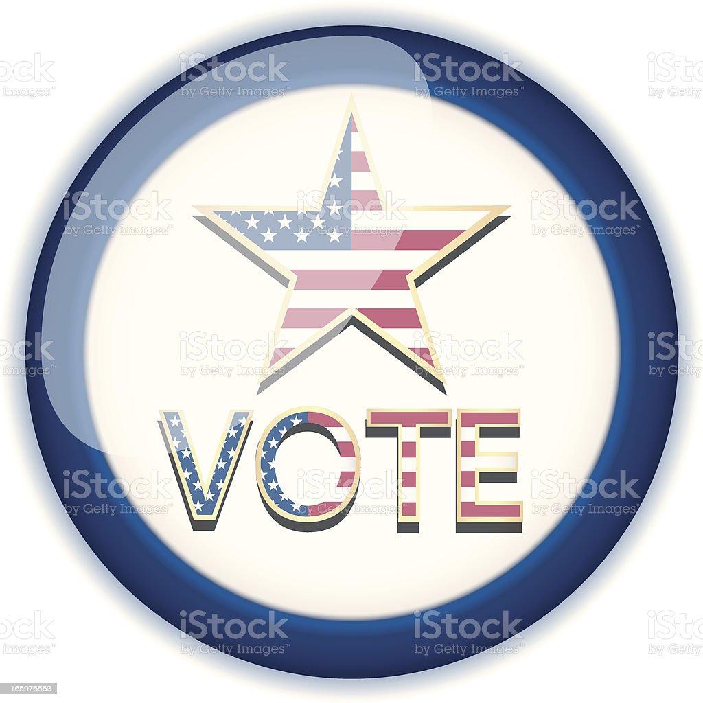 USA Voting Badge royalty-free stock vector art