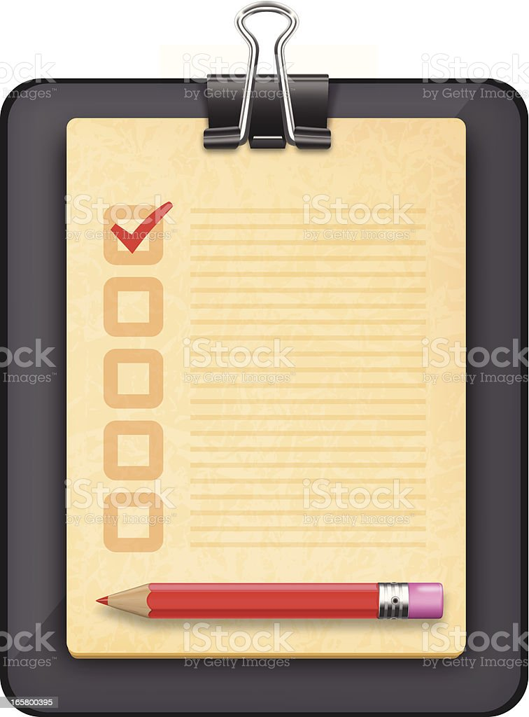 Voting ballot icon royalty-free stock vector art