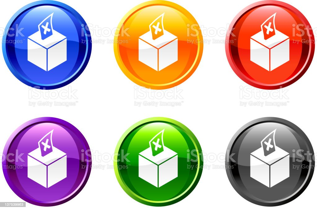 voting box button royalty free vector art royalty-free stock vector art