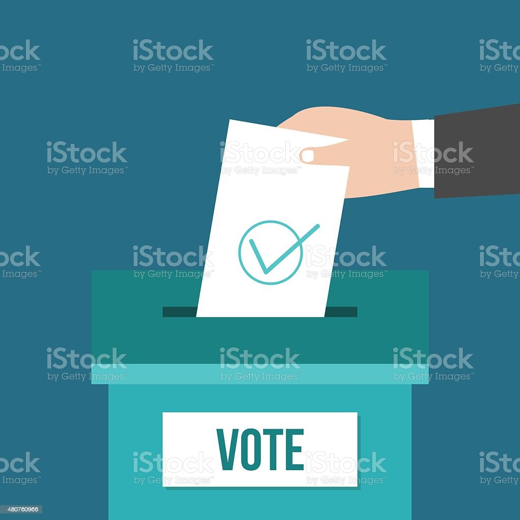 Voting box vector art illustration