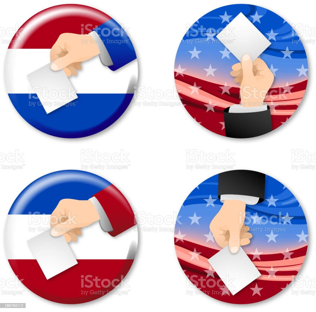Voting Buttons and Labels royalty-free stock vector art