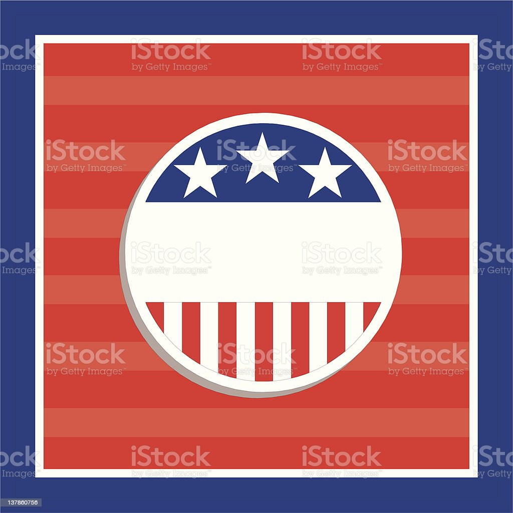 voting card royalty-free stock vector art