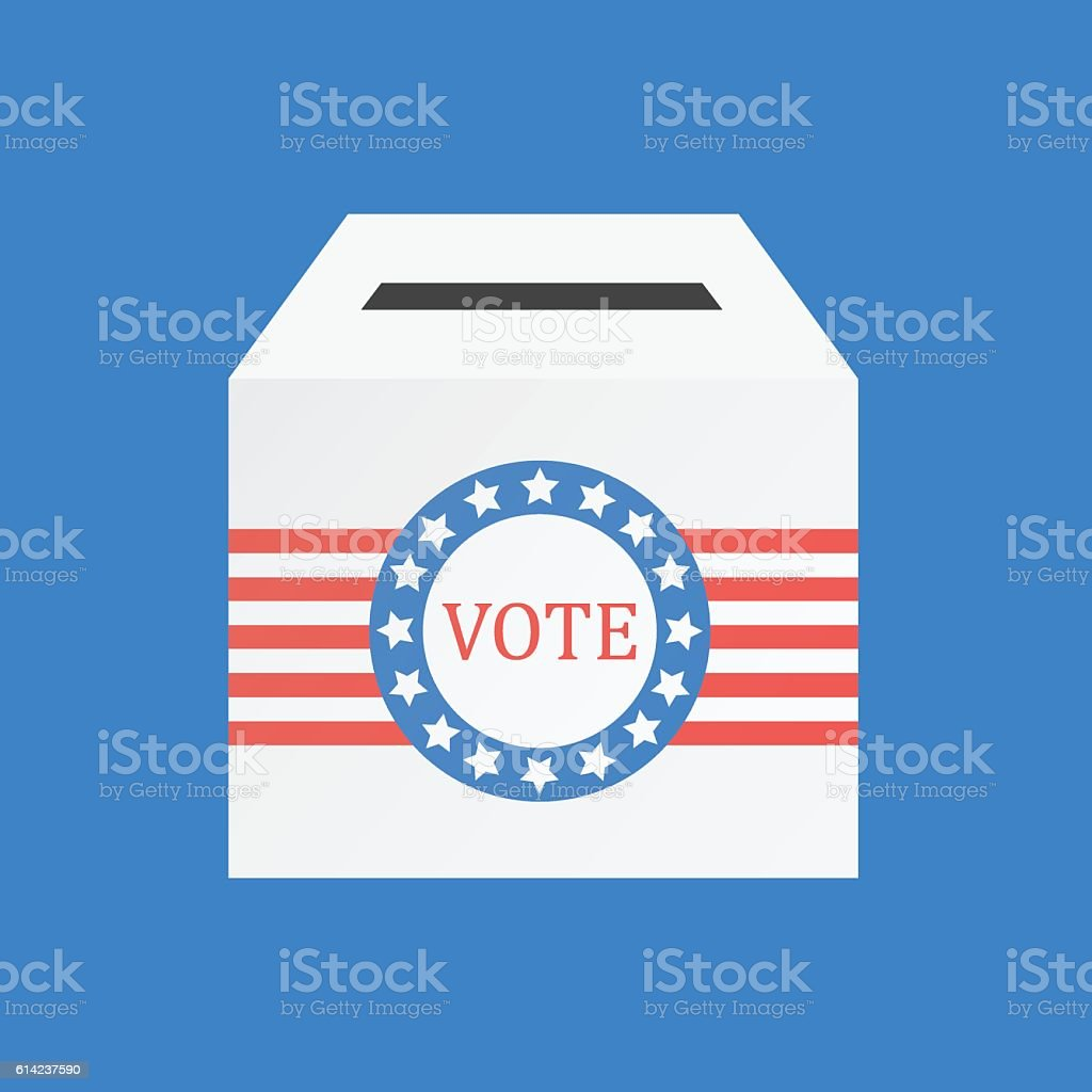 Voting concept by The ballot box USA vector art illustration