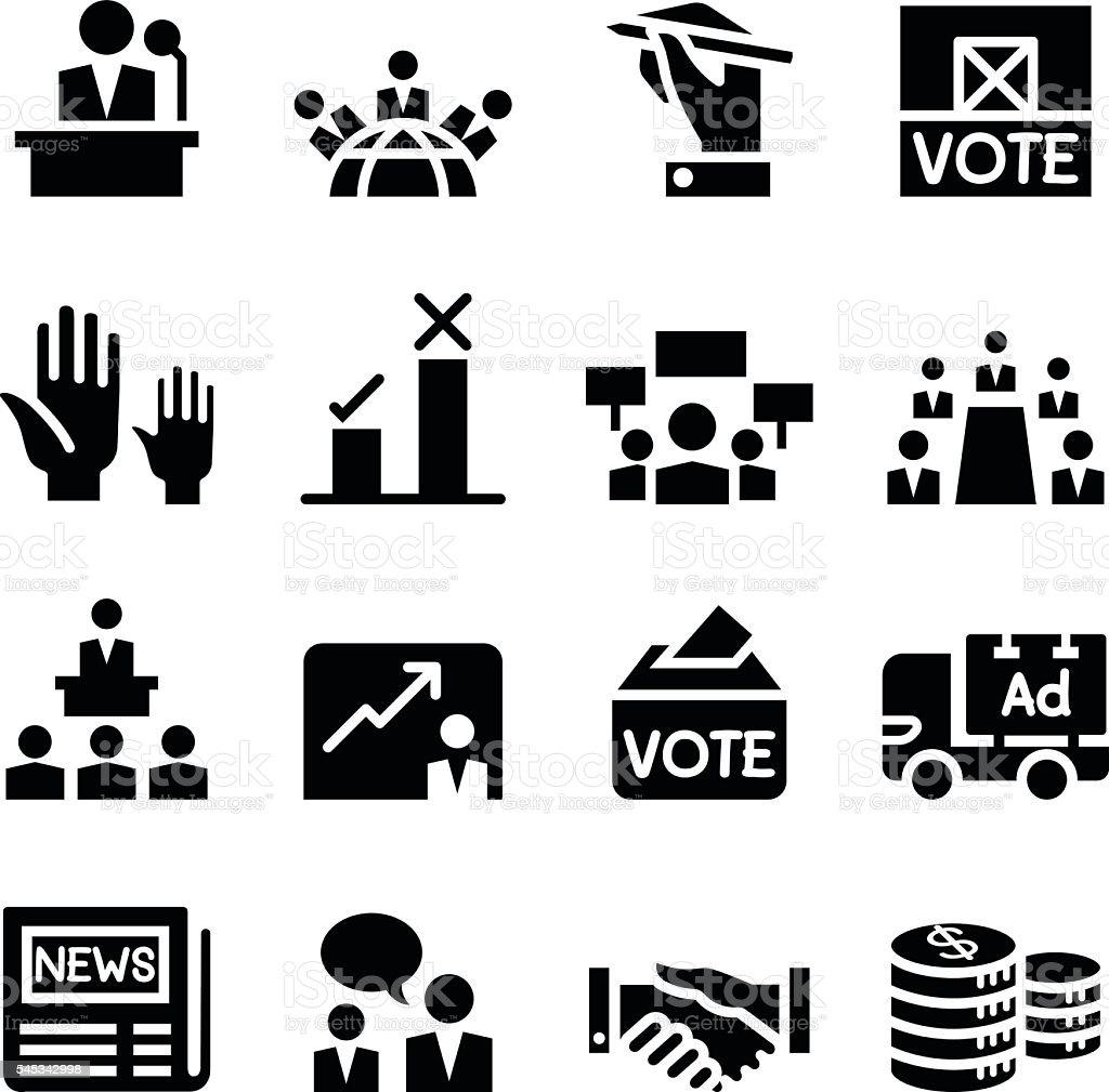 Voting ,Democracy , Election, icon vector art illustration
