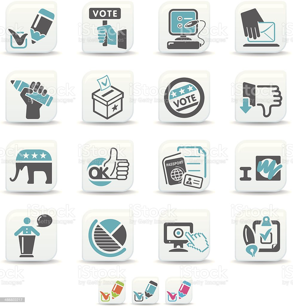 voting icons   simicoso collection royalty-free stock vector art