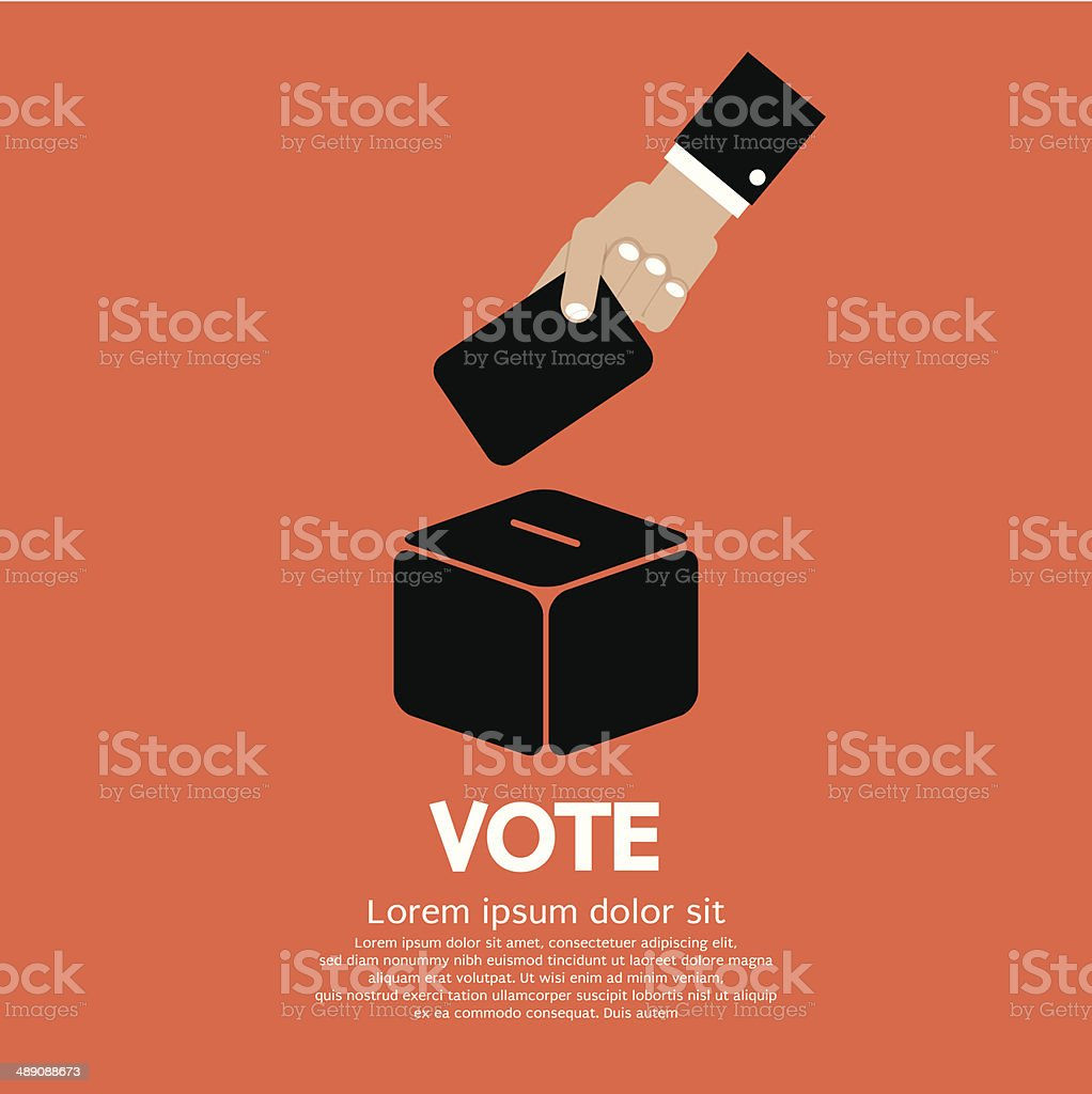 Voting System vector art illustration