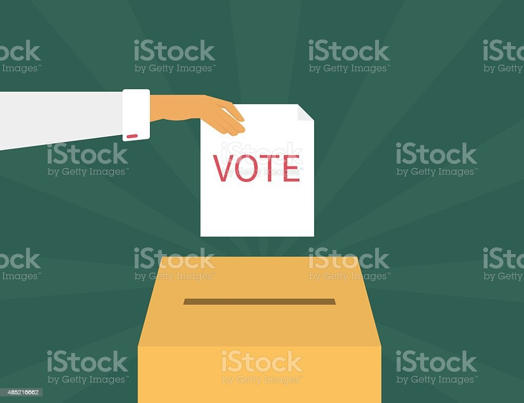 Voting vector art illustration