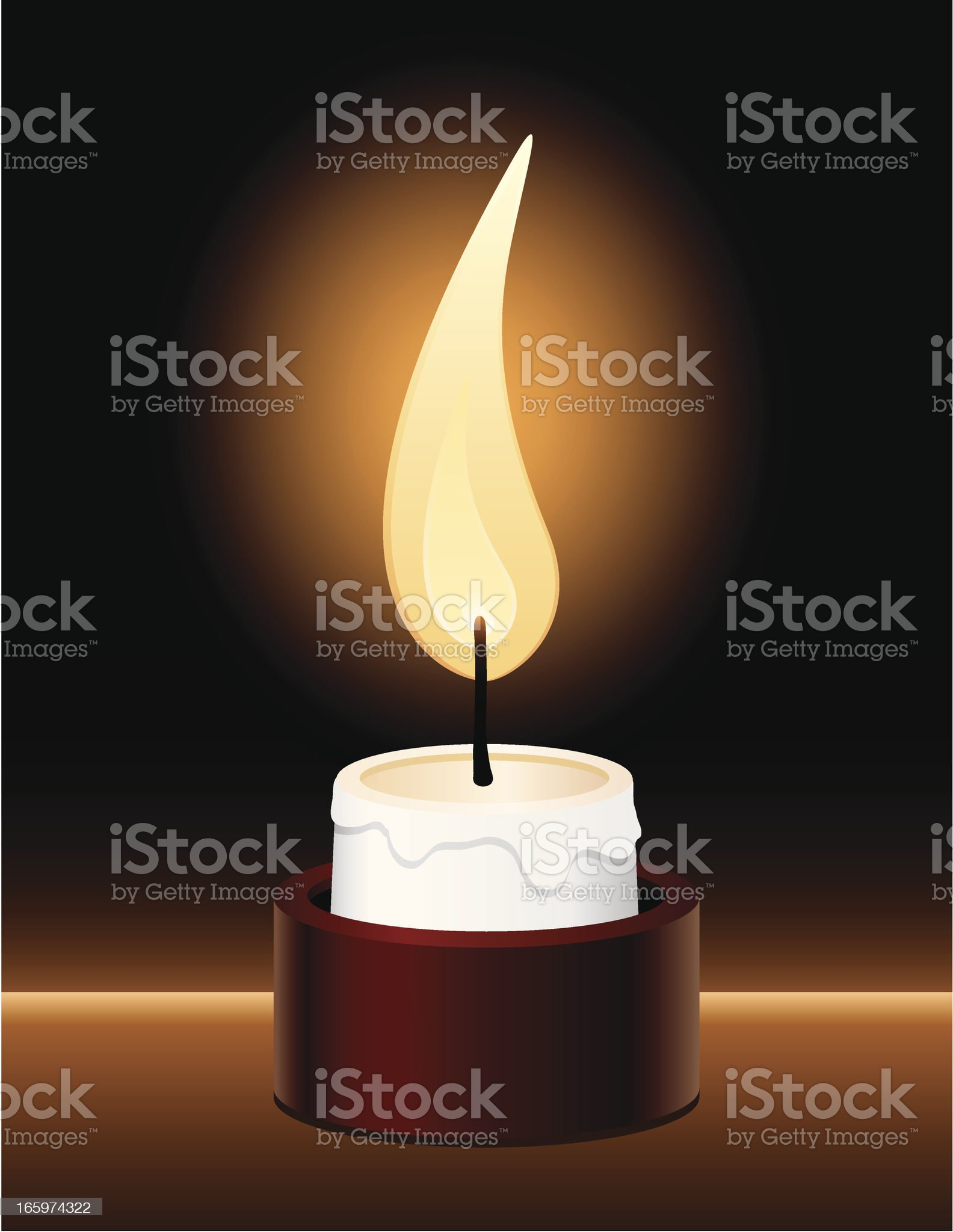 Votive Candle royalty-free stock vector art