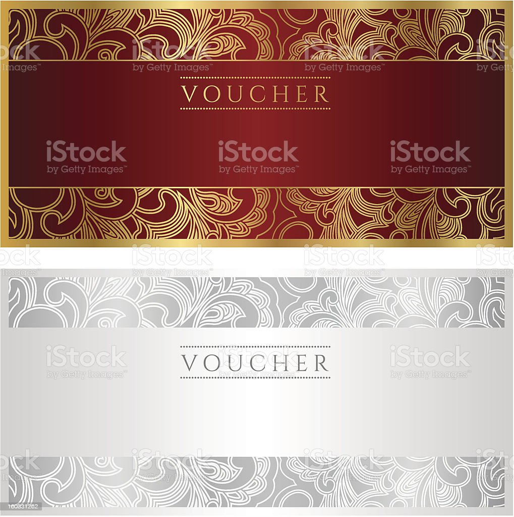voucher coupon gift template stock vector art istock voucher coupon gift template banknote money currency cheque check