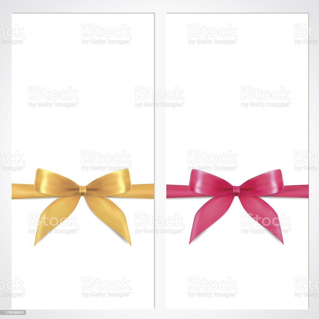 voucher gift certificate coupon layout bow banner design stock voucher gift certificate coupon layout bow ribbons banner design royalty