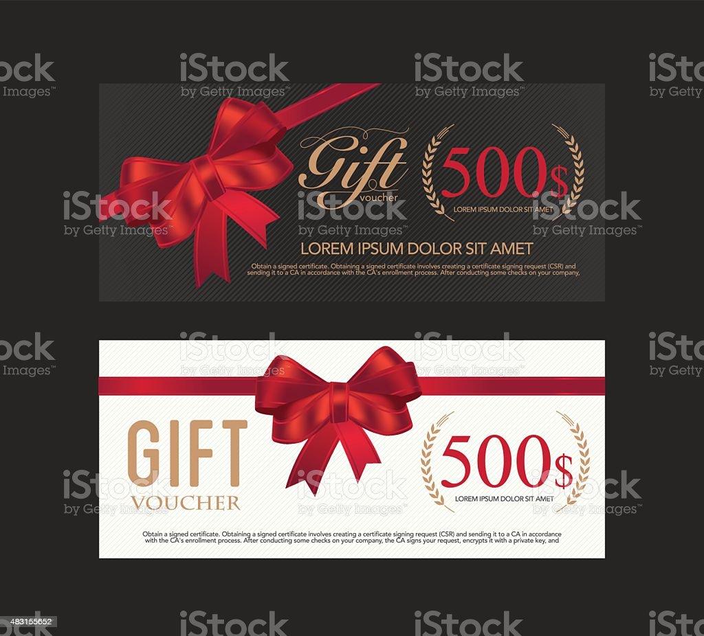 Voucher, Gift certificate, Coupon template. vector art illustration