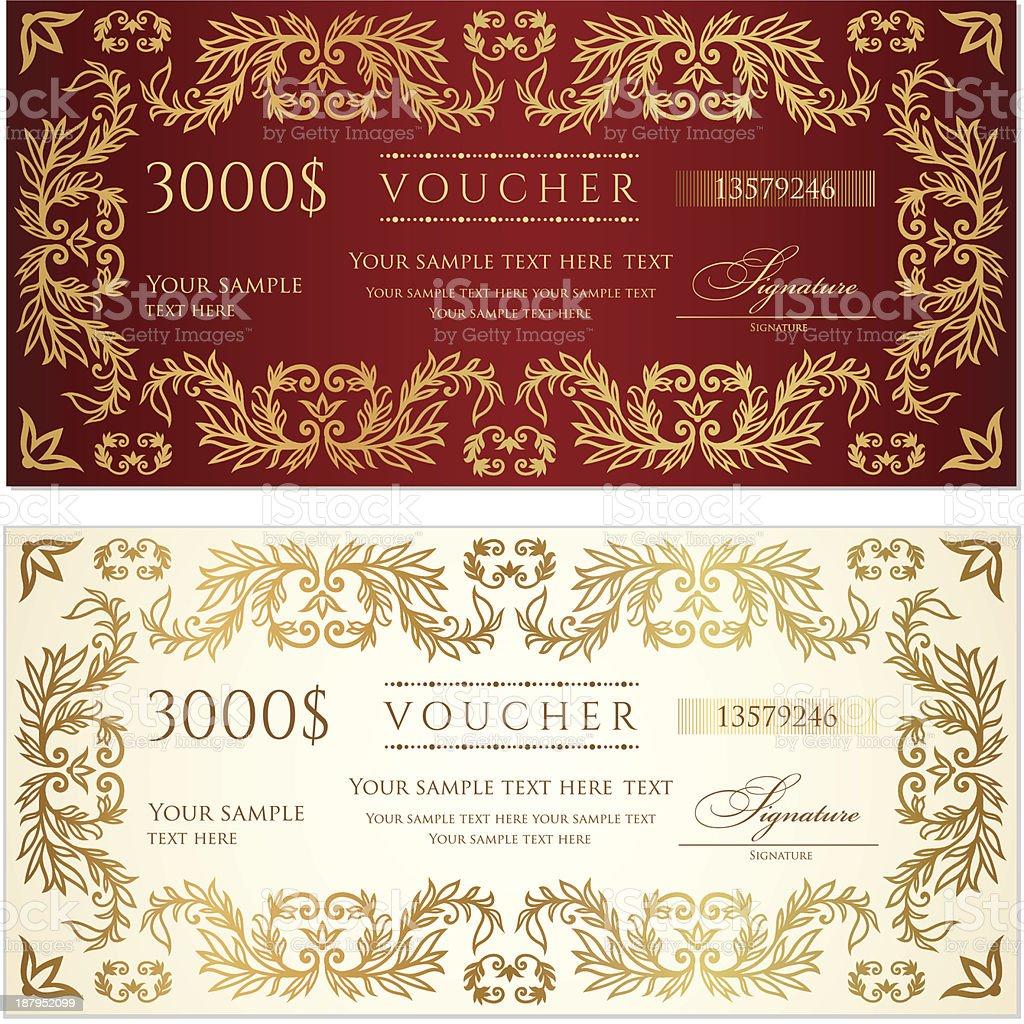 Voucher stock vector art 187952099 – Money Voucher Template