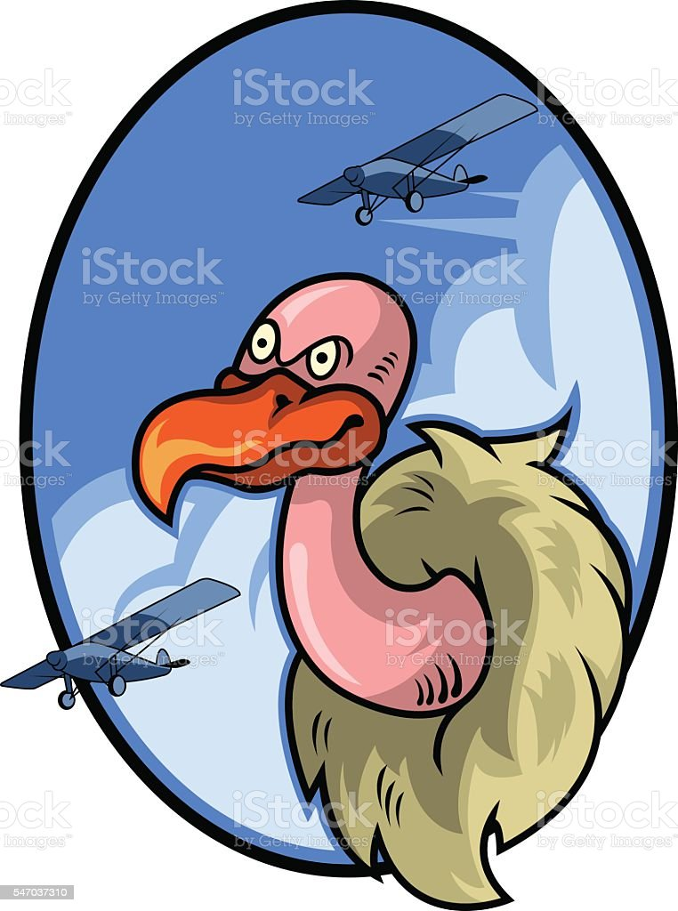 Vulture Air Force Badge vector art illustration