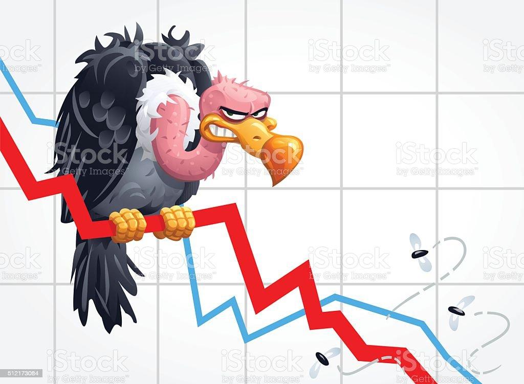 Vulture Capitalism vector art illustration