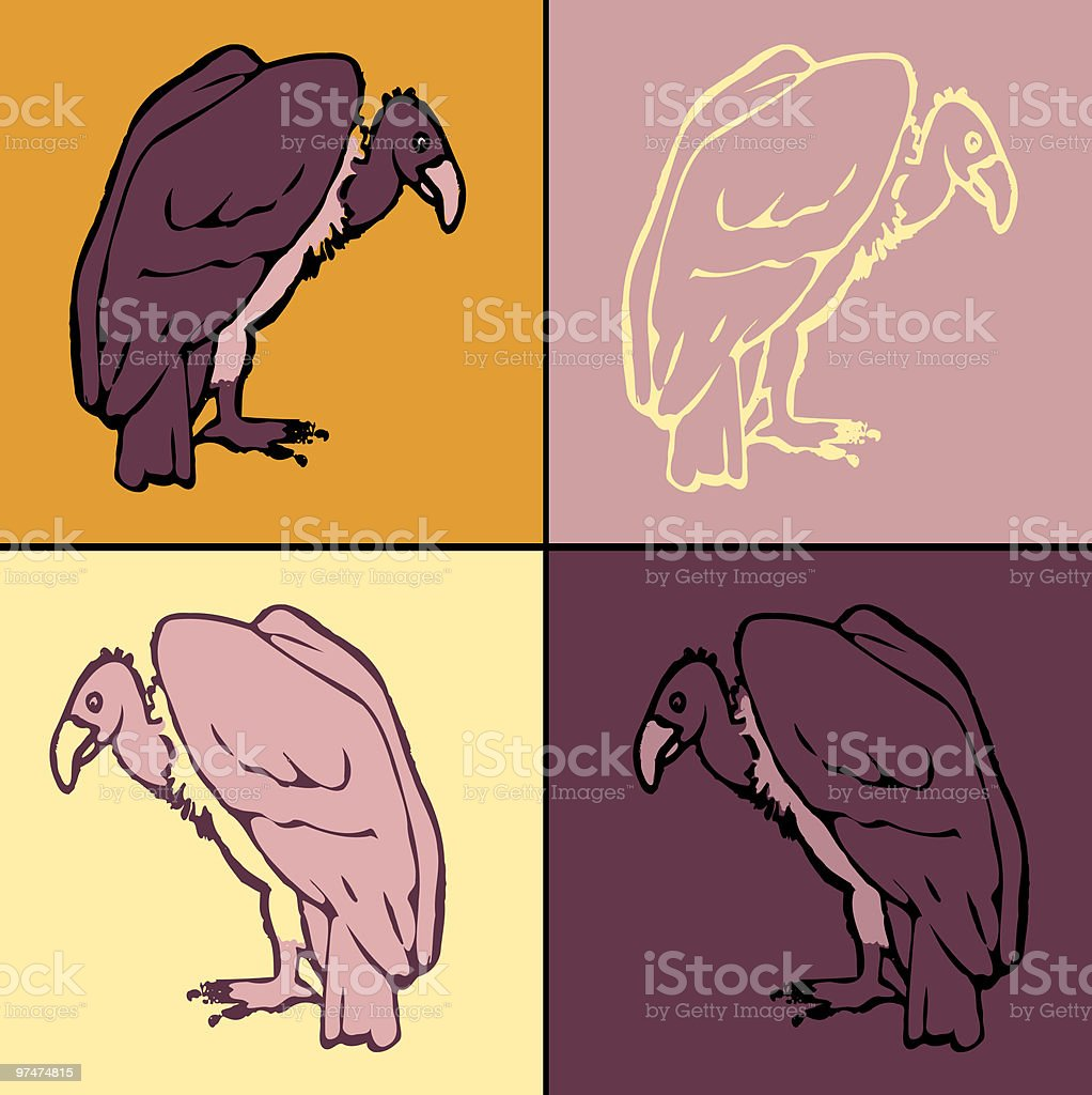Vulture drawing royalty-free stock vector art